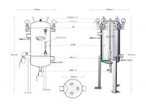 セントラル浄水器ソリューヴ大型機SB-3型のイメージ図
