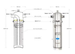 セントラル浄水器『ソリューヴ』ハウジング図の画像