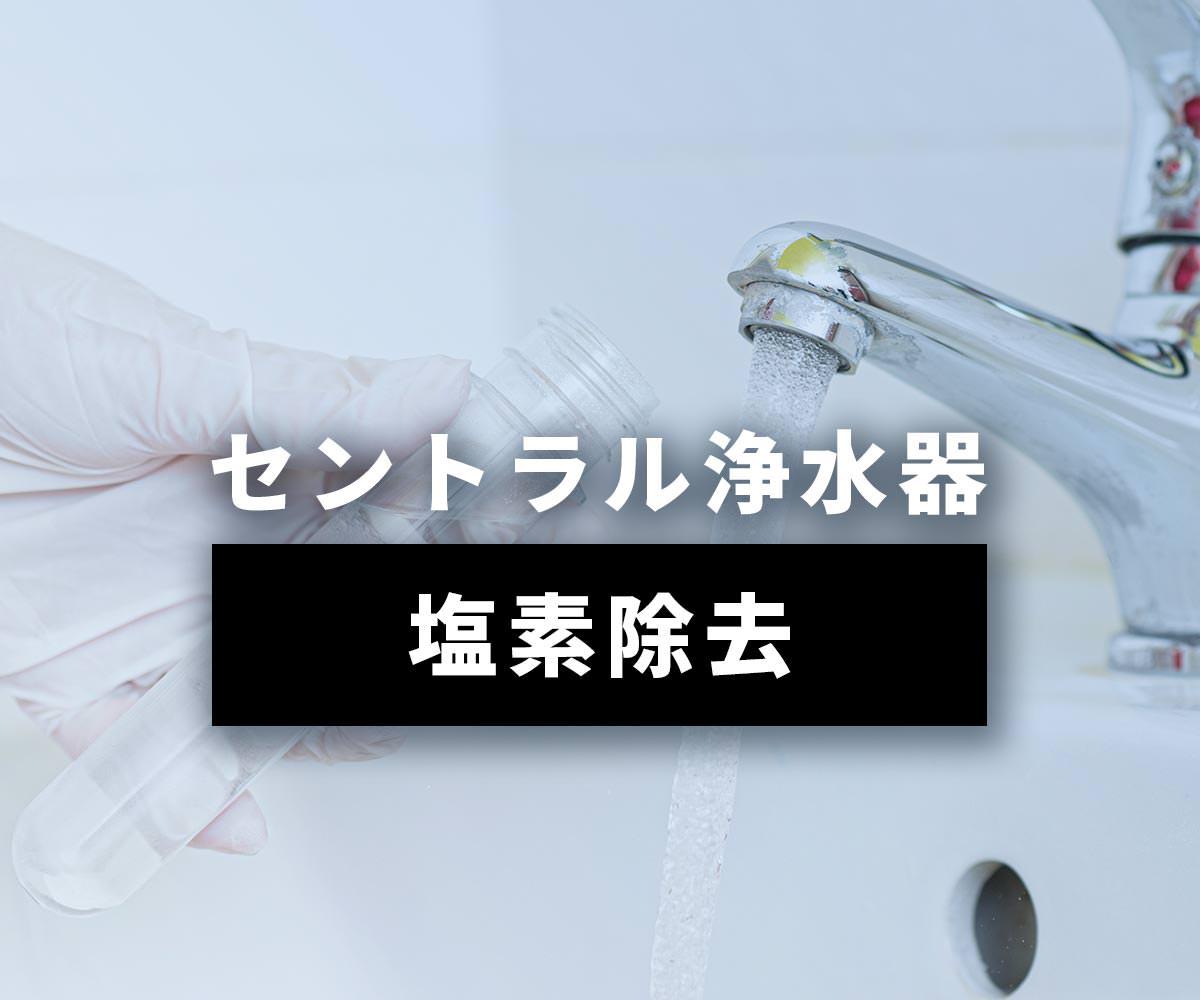 「【実証】セントラル浄水器で塩素は除去できます」画像
