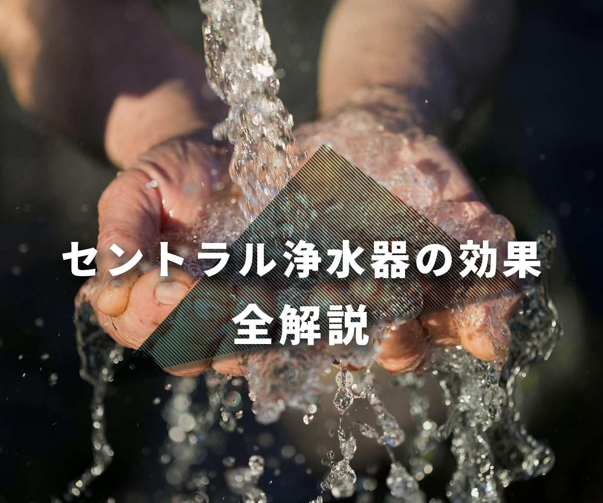 「【数字あり】セントラル浄水器の効果を全解説」画像